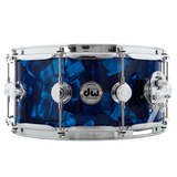 "Drum Workshop 14"" x 6.5"" Collector's Series Pure Maple Snare Drum - Blue Moonstone With Chrome Hardware"