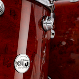 "DW Collector's Pure Maple 5-Piece 22"" Shell Pack - Clear Lacquer Exotic Padauk Pommele With Chrome Hardware"