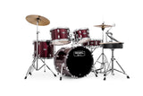 Mapex Rebel 5-Piece Junior Complete Drum Set Dark Red - New,Dark Red