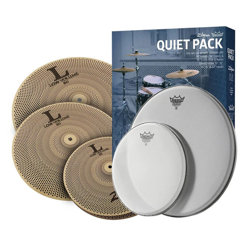 Zildjian Low Volume Quiet Pack w/ Remo Silent Stroke Drumheads