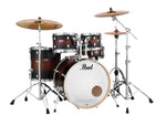"Pearl Decade Maple 5 Piece Drum Shell Pack w/ 22"" Kick - Satin Brown Burst - New,Satin Brown Burst"