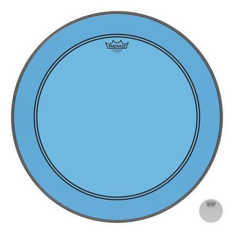 Remo Powerstroke P3 Colortone Bass Drumhead - Blue - New,20 Inch