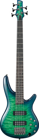 Ibanez SR405EQMSLG 5 String Electric Bass - Surreal Blue Burst Gloss - New