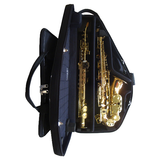 Marcus Bonna Double Saxophone Case For Alto And Curved Neck Soprano - Black