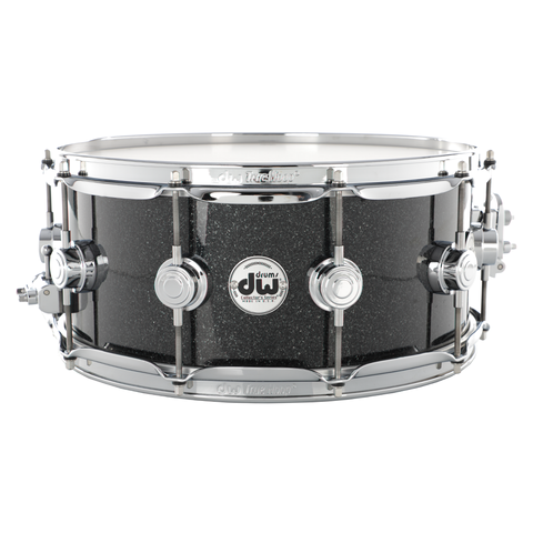 "DW 14"" x 6"" Collector Series Pure Maple Snare Drum - Black Ice with Chrome Hardware"