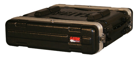 "Gator GR-2L Molded PE Locking Rack Case With Front And Rear Rails 2U x 19"" Deep"