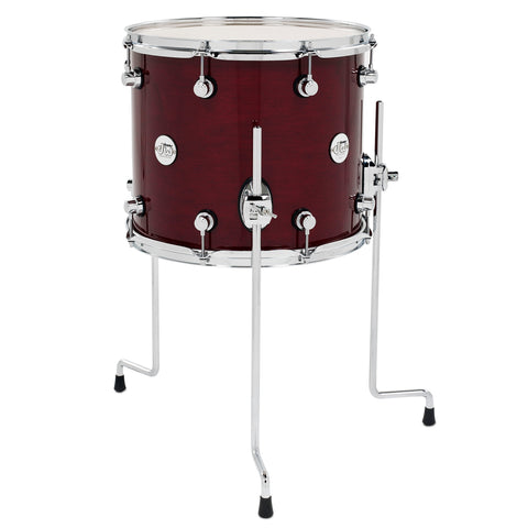 "Drum Workshop 14"" x 12"" Design Series Maple Floor Tom - Cherry Stain - New,Cherry Stain"