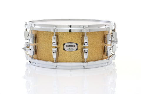 "Yamaha 14"" x 6"" Absolute Hybrid Maple Snare Drum - Gold Champagne Sparkle - New,Gold Champagne Sparkle"