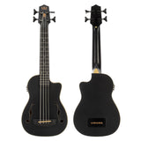 Kala UBASS-JYMN-BK-FS Journeyman Acoustic Electric U-Bass W/ F Hole - Matte Black