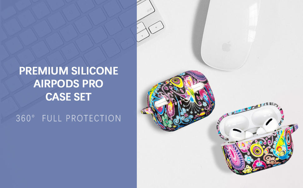 colord pattern silicone AirPods Pro case