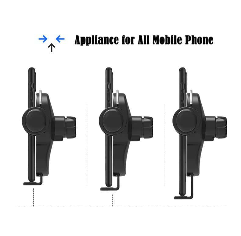 Automatic Clamping 10W Wireless Charger Car HolderPhone Bracket Stand