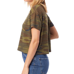 Lyssa's Eco-Friendly Camo Cropped Tee