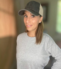 Load image into Gallery viewer, Lyssa's Ponytail Trucker Cap