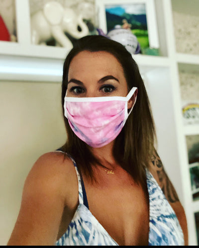 Lyssa's USA Made Tie-Dyed Cotton Face Mask