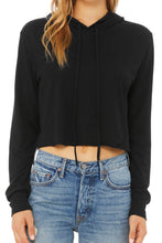 Load image into Gallery viewer, Cropped Lightweight Long Sleeve Hooded Tee