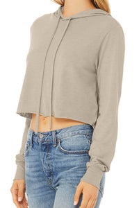 Cropped Lightweight Long Sleeve Hooded Tee