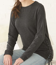 Load image into Gallery viewer, Lyssa's Lace Up Lightweight Sweatshirt