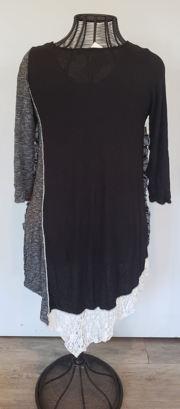 Ruffled Edge w/Lace Tunic Dress