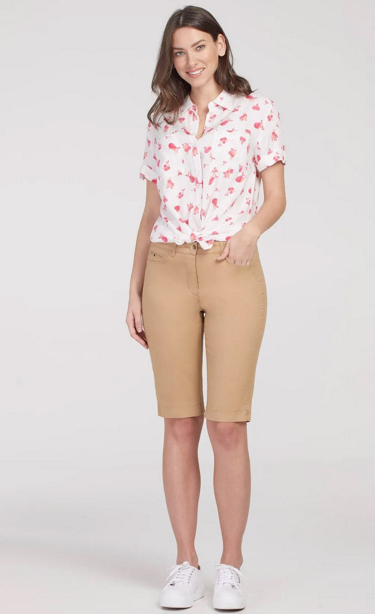 Fly Front Bermuda Shorts