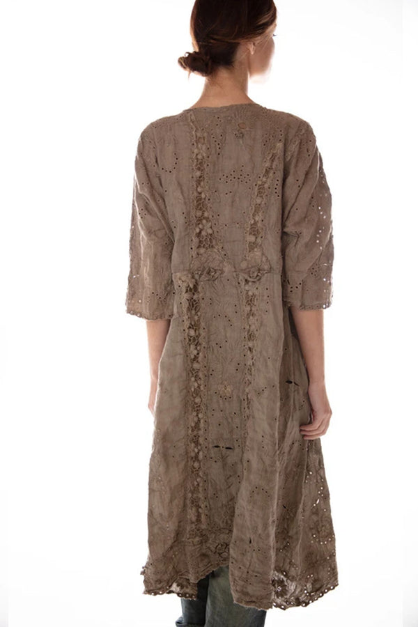 French Linen Coronado Embroidered Dress