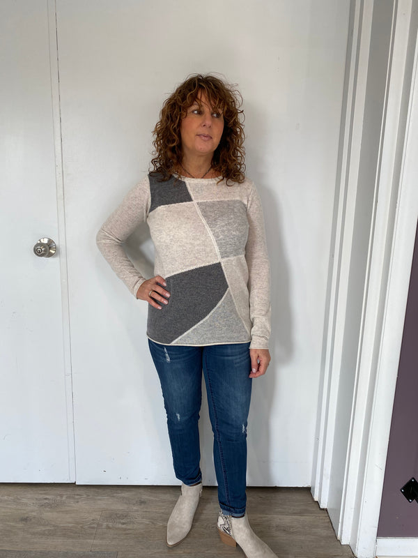 Patchwork Intarsia Sweater