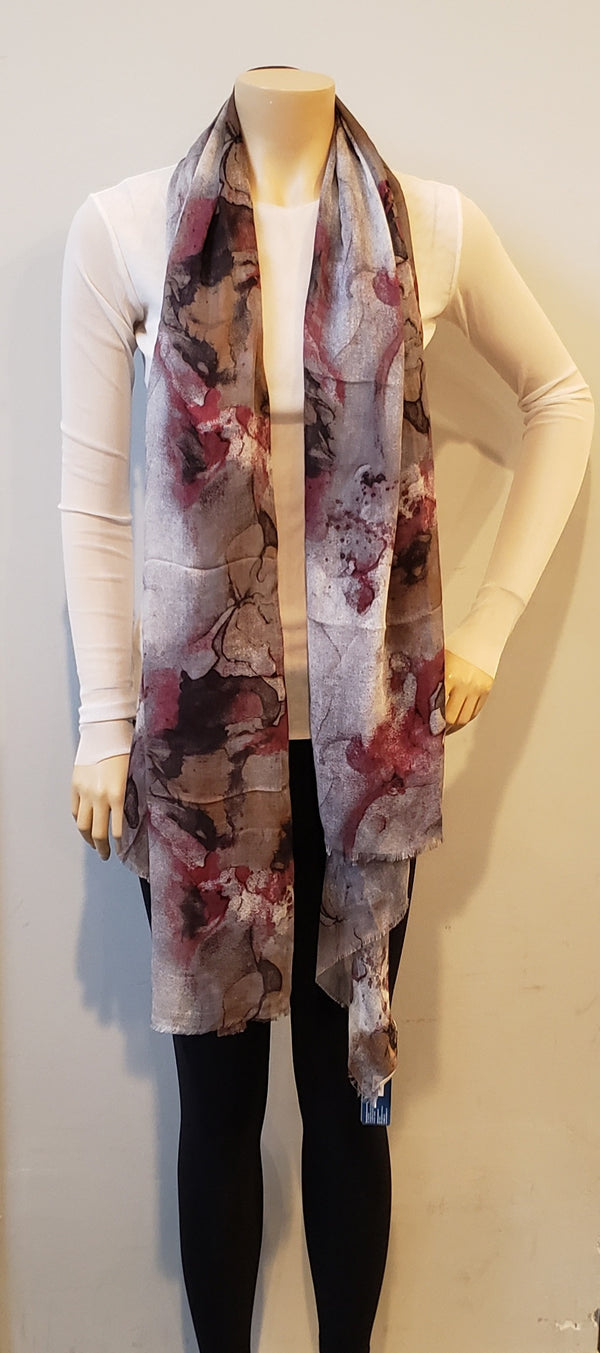 Marbled Watercolor Print Scarf