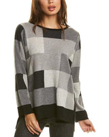 Colorblock High/Low Sweater