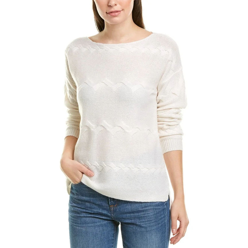 Twist Cable Boatneck Sweater