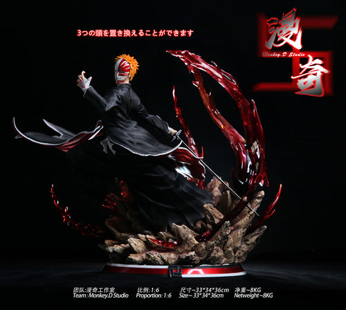 1/6 Scale Hollow Form / Arrancar Kurosaki Ichigo -  Bleach Resin Statue - Monkey·D Studios  [Pre-Order]