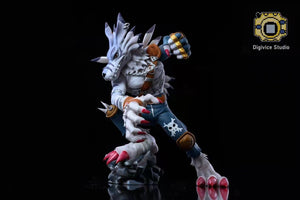 Were Garurumon & Digitamamon with LED - Digimon Resin Statue - Digivice Studio [Pre-Order]
