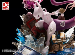 Rocket's Mewtwo and Mew - Pokemon Resin Statue - DS Studios [In Stock] - FavorGK