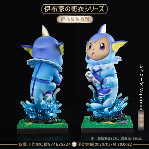 Sylveon/ Vaporeon/ Leafeon/ Glaceon/ Flareon Eevee Cosplay - Pokemon Resin Statue - QY Studios [In Stock] - FavorGK