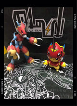Load image into Gallery viewer, 3CM & 8CM Fladramon, Lighdramon & Magnamon Cosplay Pikachu - Pokemon Digimon Resin Statue - FYY Studios [Pre-Order] - FavorGK