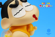 Load image into Gallery viewer, Nobita Nobi Cosplay Shin-chan & Doraemon Cosplay Sunflower - Crayon Shin-chan Resin Statue - Memory box Studios [Pre-Order] - FavorGK