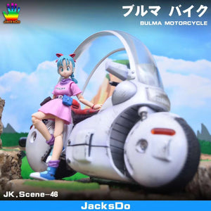 Bulma and Motorcycle - Dragon Ball Resin Statue - JacksDo Studios [Pre-Order] - FavorGK