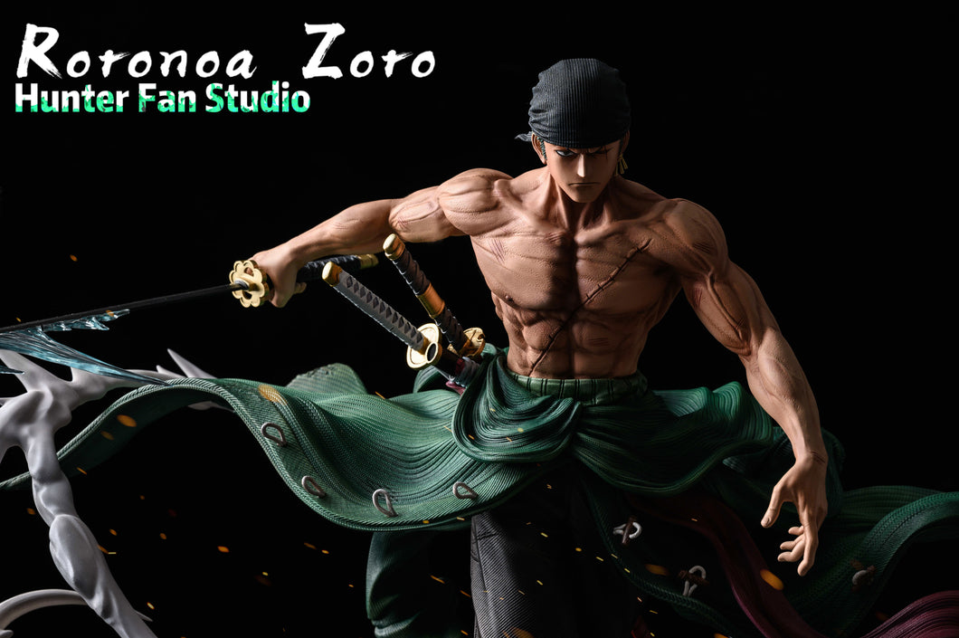 1/4 & 1/6 Scale Roronoa Zoro - ONE PIECE Resin Statue - Hunter Fan Studios [Pre-Order] - FavorGK