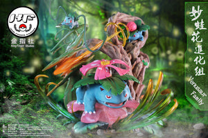 Evolutionary Combination Series Venusaur Family - Pokemon Resin Statue - King Finger Studios [Pre-Order] - FavorGK