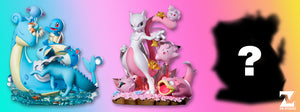 Candy Series Pink Mewtwo, Mew, Jigglypuff, Slowpoke, Clefairy and Igglybuff - Pokemon Resin Statue - ZN Studios [Pre-Order] - FavorGK