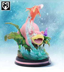 Slowpoke Playing with Magikarp - Pokemon Resin Statue - MFC Studios [Pre-Order]