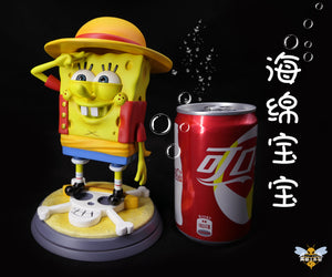 1:1 Scale Monkey D. Luffy Cosplay SpongeBob - SpongeBob SquarePants Resin Statue - WASP Studios [Pre-Order]