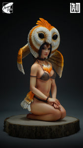 Animal Girl Series Owl Girl, Lizard Girl & Mandrill Girl - Original Design - ZaoWuYingShi Studios [In Stock]