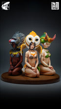 Load image into Gallery viewer, Animal Girl Series Owl Girl, Lizard Girl & Mandrill Girl - Original Design - ZaoWuYingShi Studios [In Stock]