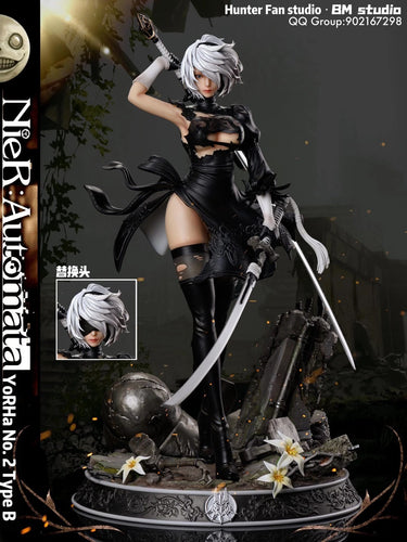 1/4 & 1/6 Scale YoRHa No.2 Type-B - NieR:Automata Resin Statue - Hunter Fan Studios [Pre-Order]