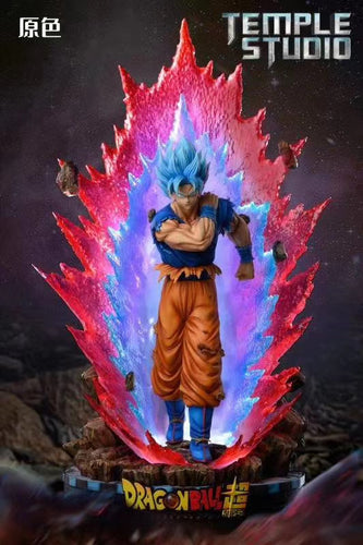 1/6 Scale Super Saiyan Blue Son Goku Using Kaio-ken - Dragon Ball Resin Statue - Temple Studios [Pre-Order]
