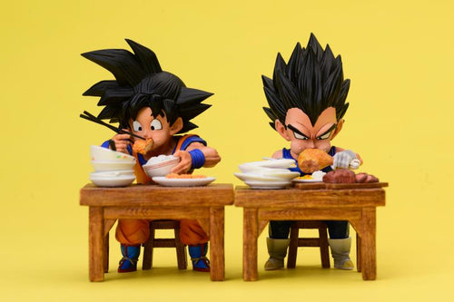 Eating Son Goku & Vegeta - Dragon Ball Resin Statue - League Studios [Pre-Order]