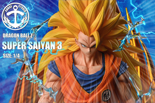 1/4 Scale Super Saiyan 3 Son Goku - Dragon Ball Resin Statue - SURGE Studios [Pre-Order]