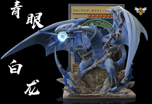 1/40 Scale Blue-Eyes White Dragon Cards - Duel Monsters/ Yu-Gi-Oh! Resin Statue - WASP Studios [Pre-Order]