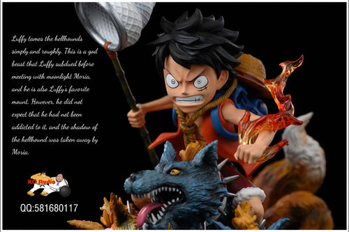WCF Scale Luffy Tames the Hellhounds - ONE PIECE Resin Statue - Ko-Studios [Pre-Order]