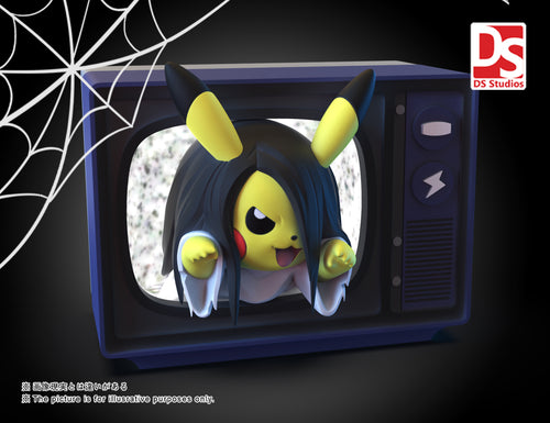 Halloween Sadako Cosplay Pikachu - Pokemon Resin Statue - DS Studios [Pre-Order]