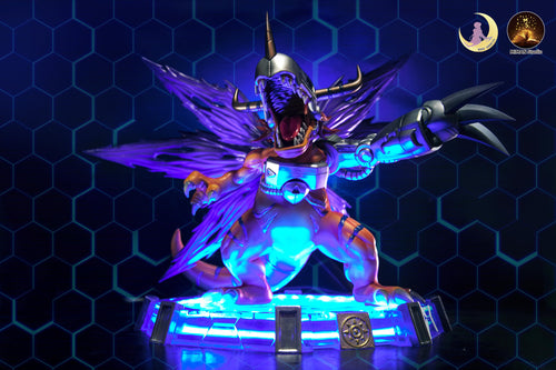 Metal Greymon with LED - Digimon Resin Statue - Moon Shadow Studios [Pre-Order]